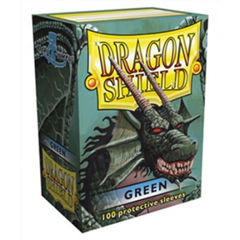 100 BUSTINE DRAGON SHIELD - GREEN CLASSIC