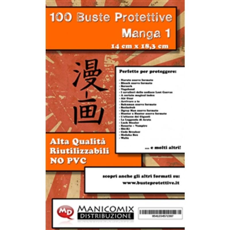 100 BUSTE PROTETTIVE MANGA 1 (14,0 X 18,3)