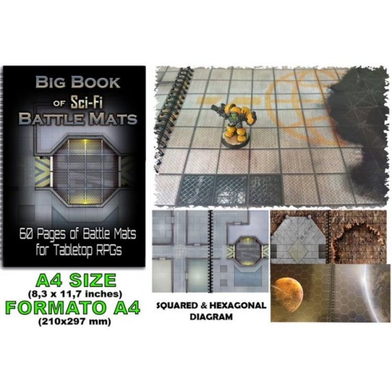 LIBRO TERRENI DI GIOCO GDR - BIG BOOK OF SCI-FI BATTLE MATS
