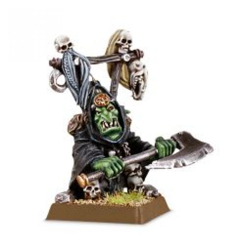 Warhammer Age of Sigmar - Goblin Delle Tenebre con Grande ascia (Grot Warboss)
