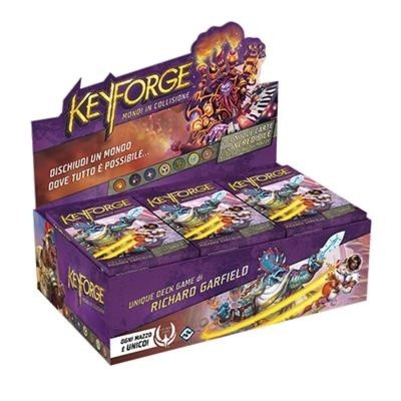 KEYFORGE -BOX con 12 MAZZI - MONDI IN COLLISIONE