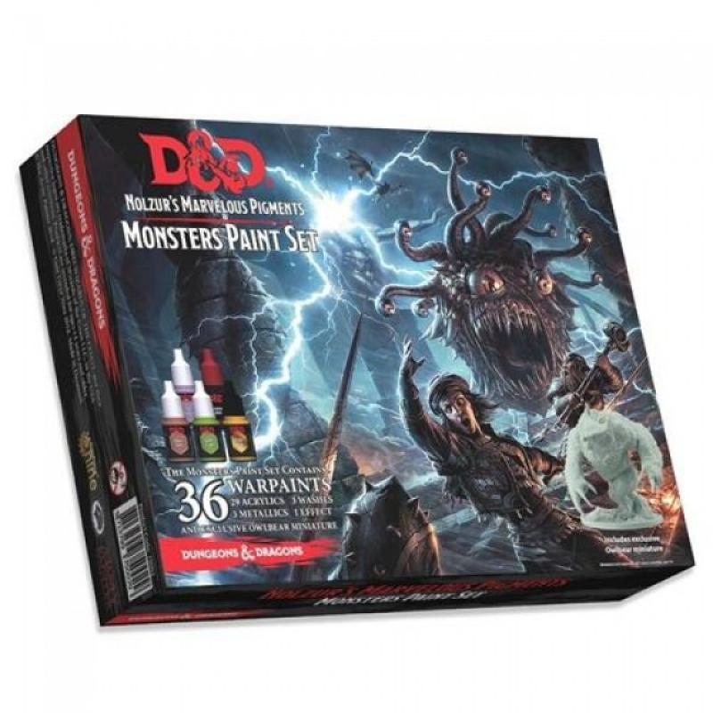 D&D NOLZUR'S MARVELOUS MINIATURES - MONSTER PAINT SET