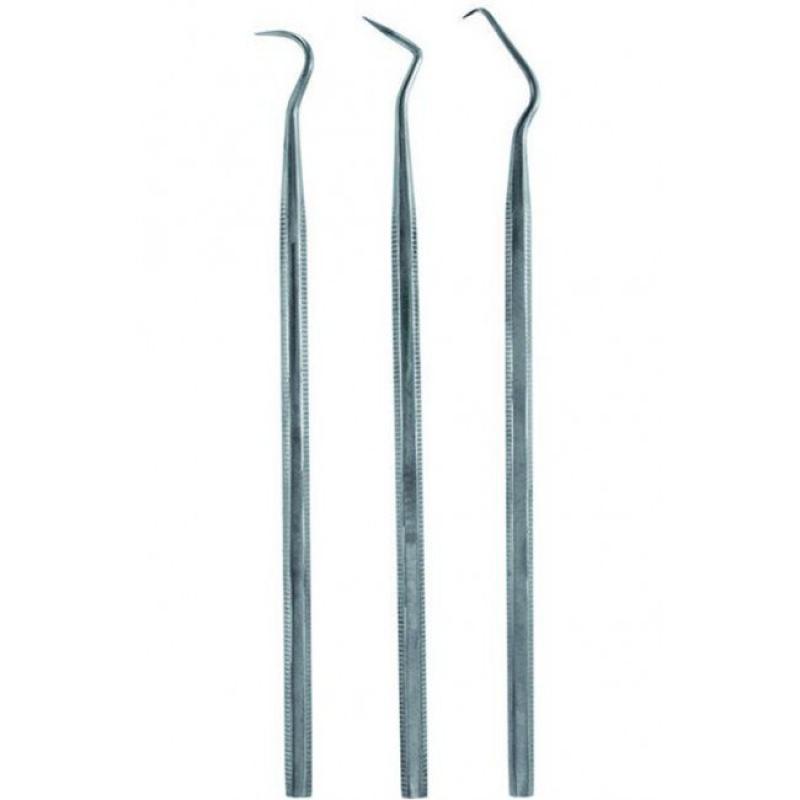 58760 - SET OF 3 STAINLESS STEEL PROBES - Attrezzi per scolpire
