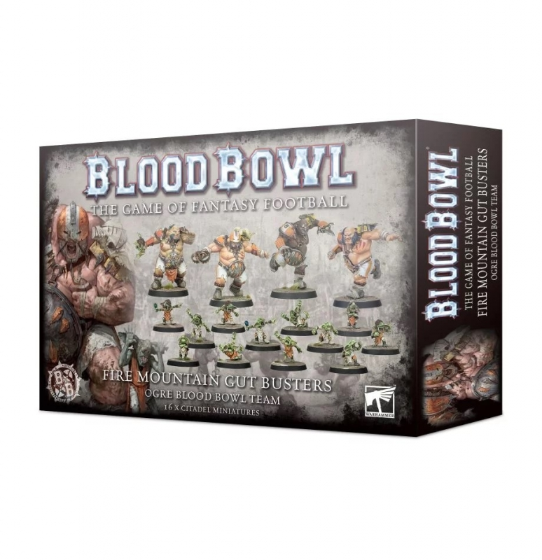 Blood Bowl Team - The Fire Mountain Gut Busters - Team Ogre