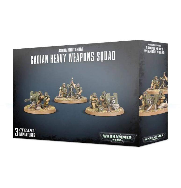 Astra Militarum - Cadian Heavy Weapons Squad/ Team Armi Pesanti