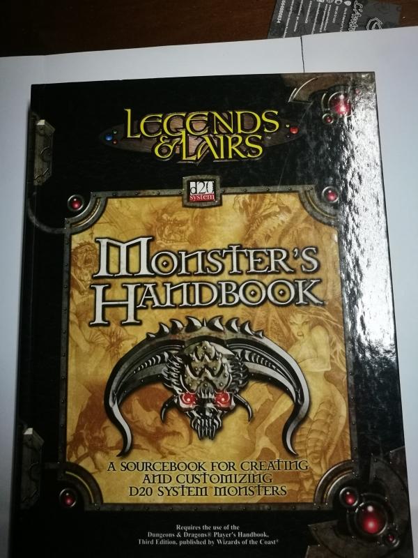 LEGENDS & LAIRS - MONSTER'S HANDBOOK