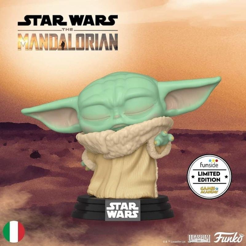 STAR WARS - THE MANDALORIAN - POP FUNKO VINYL FIGURE THE CHILD FORCE WIELDING - GA EXCL