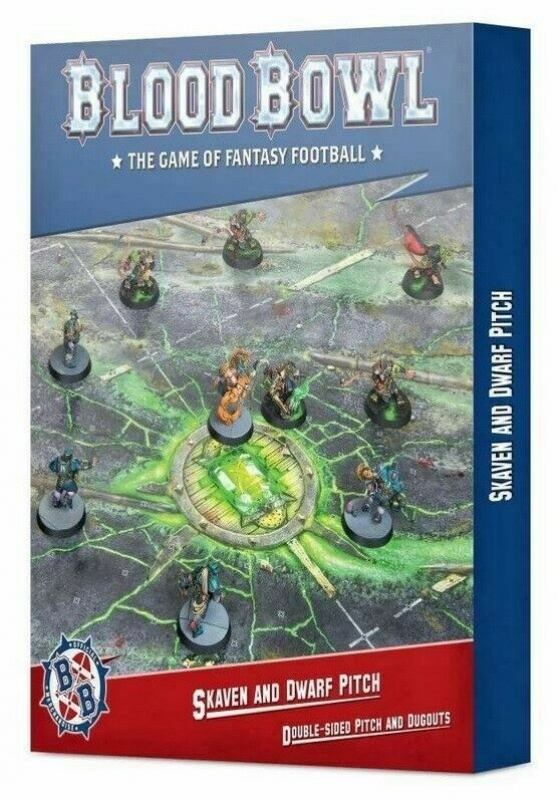 Blood Bowl: Campo e Panchine - Skaven and Dwarf Pitch – Double-sided Pitch and Dugouts (Inglese)