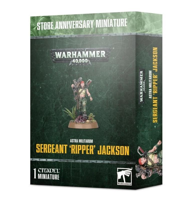 Astra Militarum - SERGEANT 'RIPPER' JACKSON - Store Anniversary Miniature