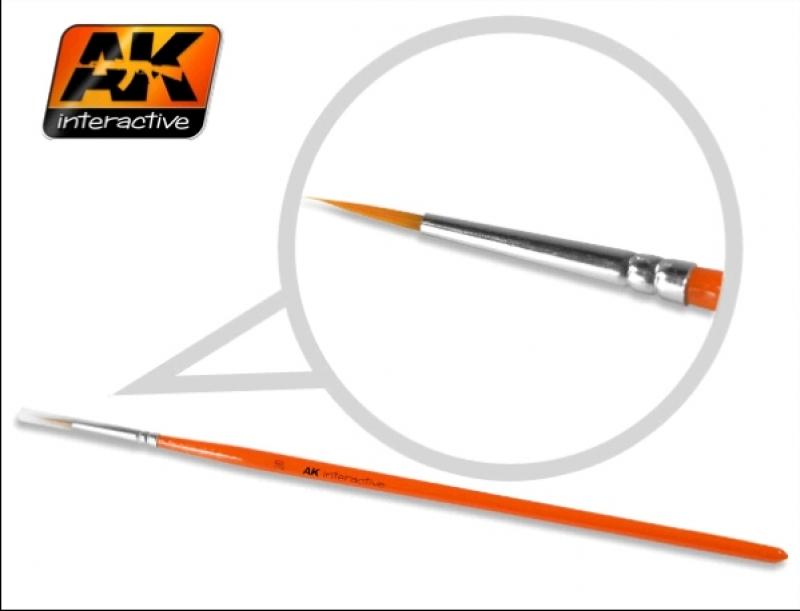 Pennello Sintetico AK - Tondo punta fine 2/0