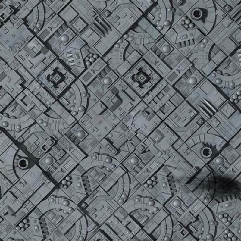 PLAYMAT - MOON SPACE STATION - Dim. 90 cm(36'') X 90 cm (36