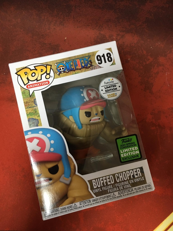 ONE PIECE - POP FUNKO VINYL FIGURE 918 - BUFFED CHOPPER - SPRING CONVENTION 2021 (GAMES ACADEMY EXCLUSIVE)