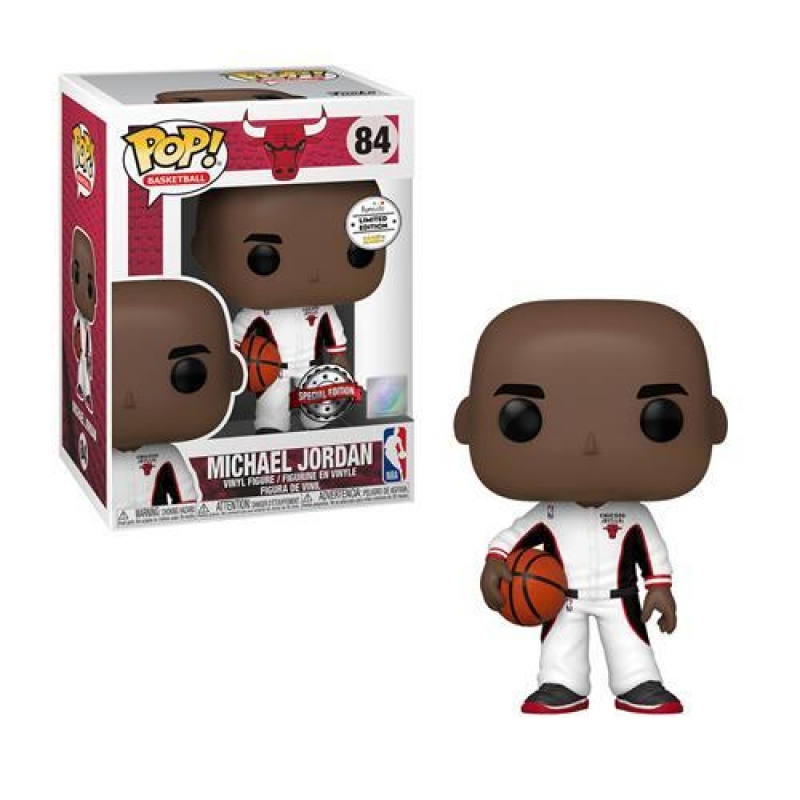 NBA - POP FUNKO FIGURE 84 - MICHAEL JORDAN (BULLS WHITE WARMUP) - (GAMES ACADEMY EXCLUSIVE)