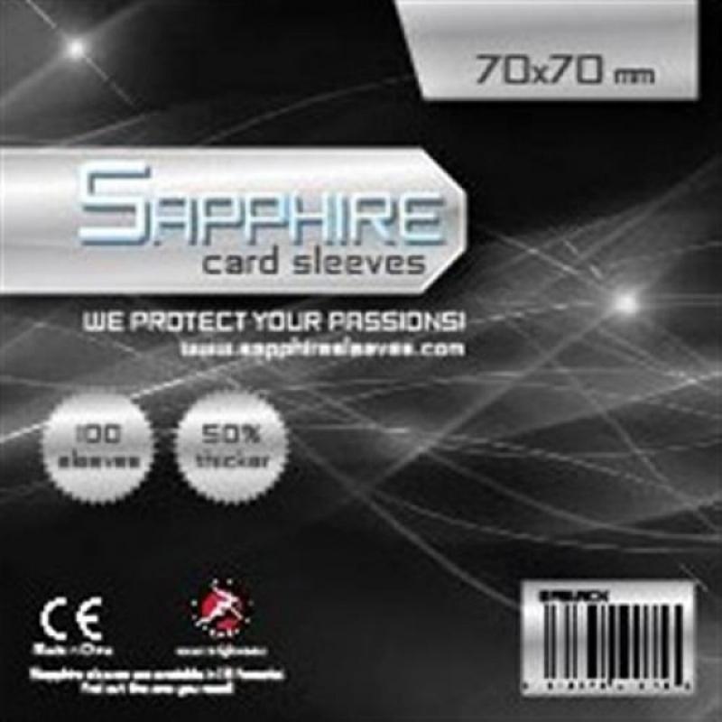 100 BUSTE PROTETTIVE 70X70(mm) - SAPPHIRE BLACK