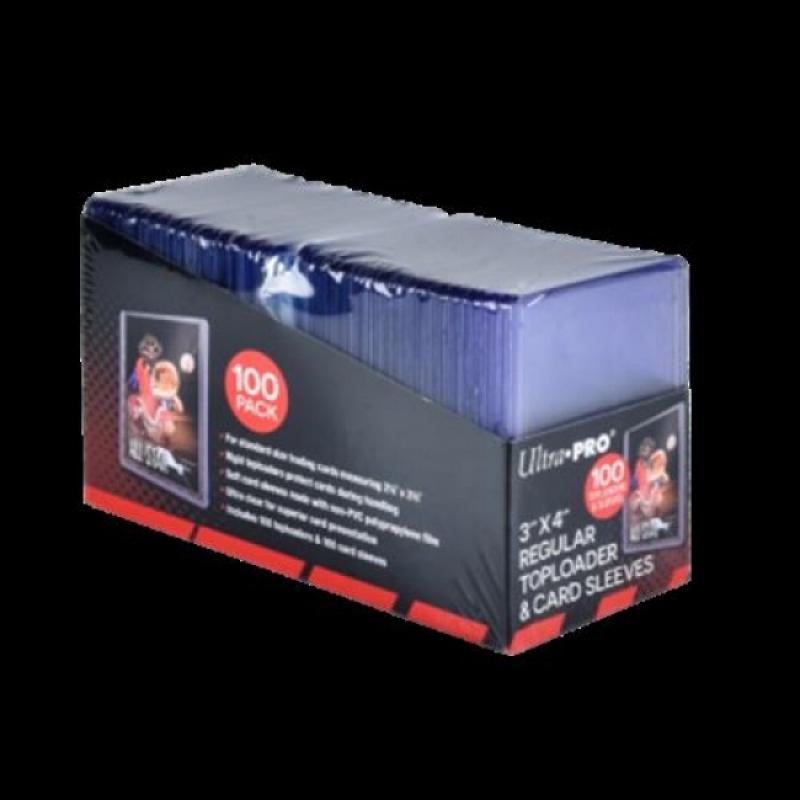 Confezione da 100 TOPLOADER - Formato 3' X 4' + 100 CARD SLEEVES PRO FIT - CLEAR REGULAR