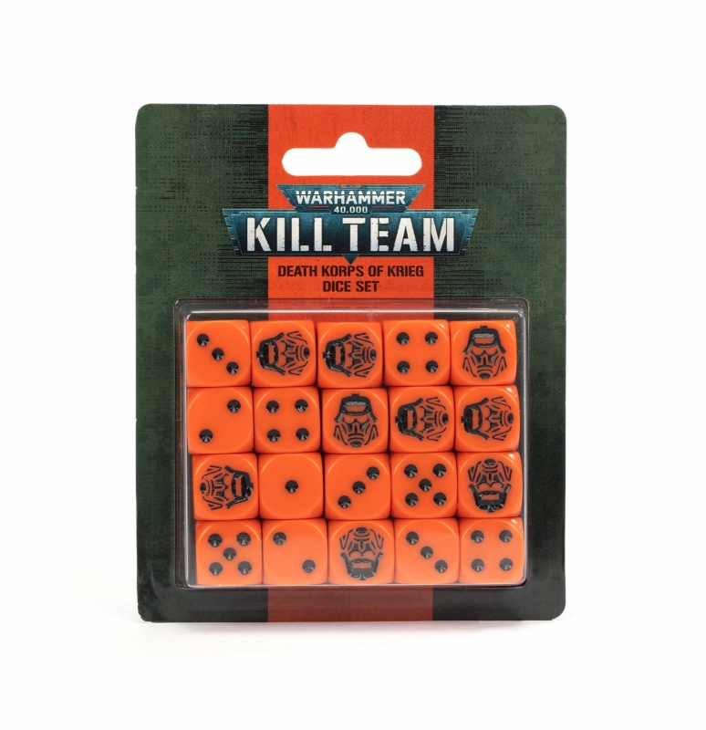 Warhammer 40.000 - KILL TEAM SET DADI - DEATH KORPS OF KRIEG
