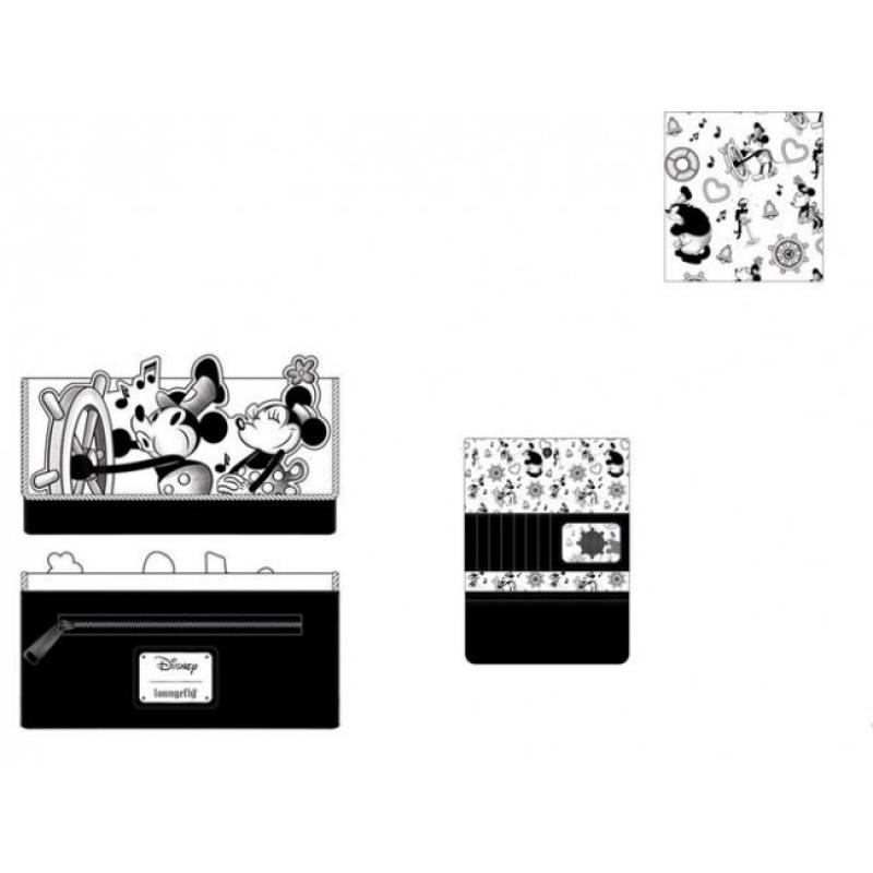 DISNEY - MICKEY MOUSE - PORTAFOGLIO STEAMBOAT WILLIE MUSIC CRUISE