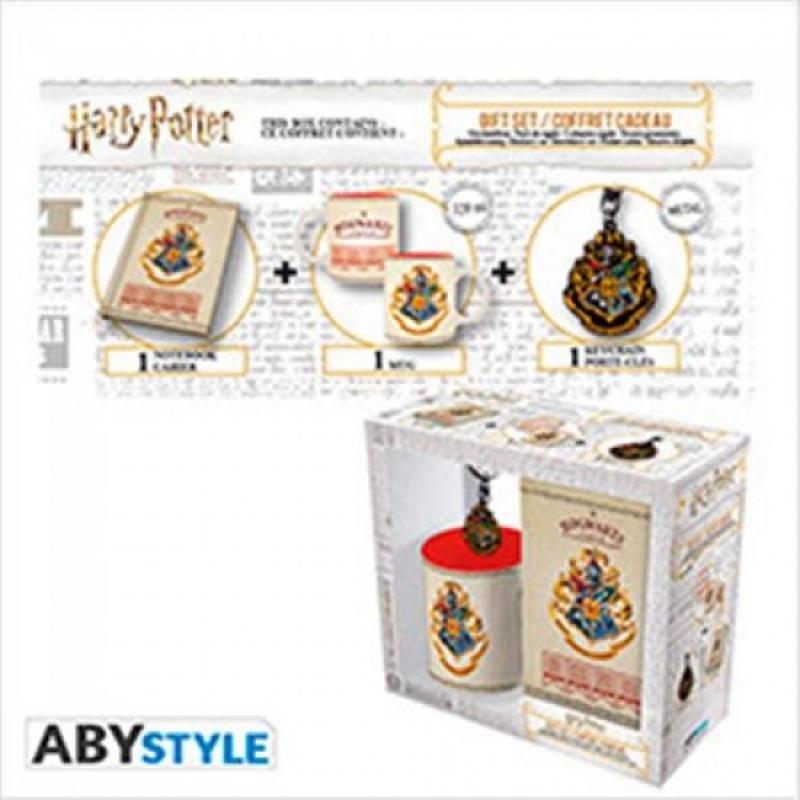 HARRY POTTER - GIFT PACK MUG 320ML + PORTACHIAVI + NOTEBOOK HOGWARTS