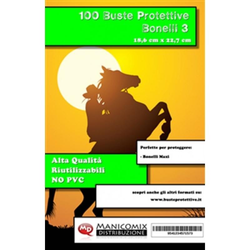 100 BUSTE PROTETTIVE BONELLI 3 (18,6 X 22,7 Cm)