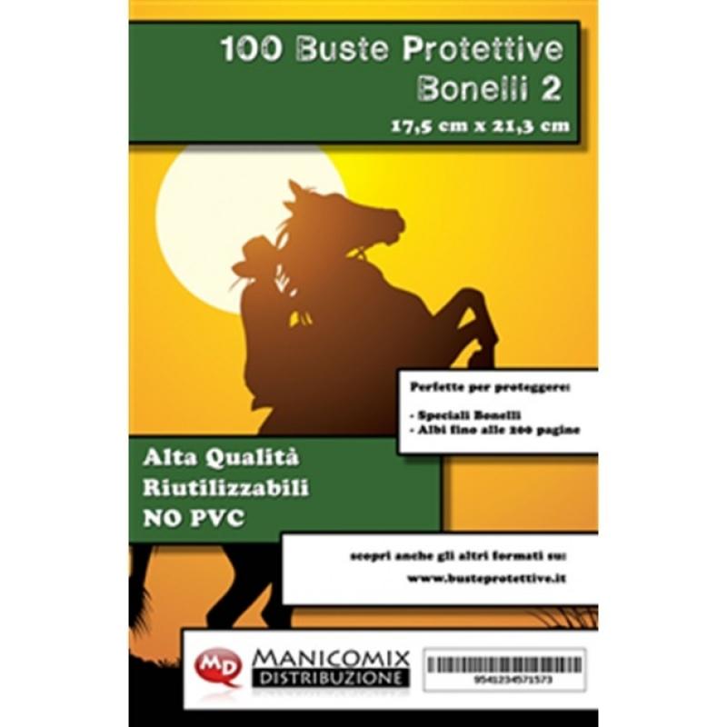 100 BUSTE PROTETTIVE BONELLI 2 (17,5 X 21,3 Cm)