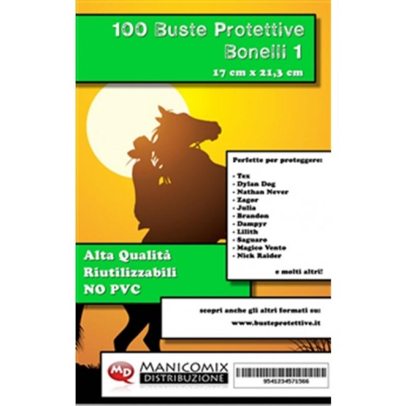 100 BUSTE PROTETTIVE BONELLI 1 (17,0 X 21,3 Cm)