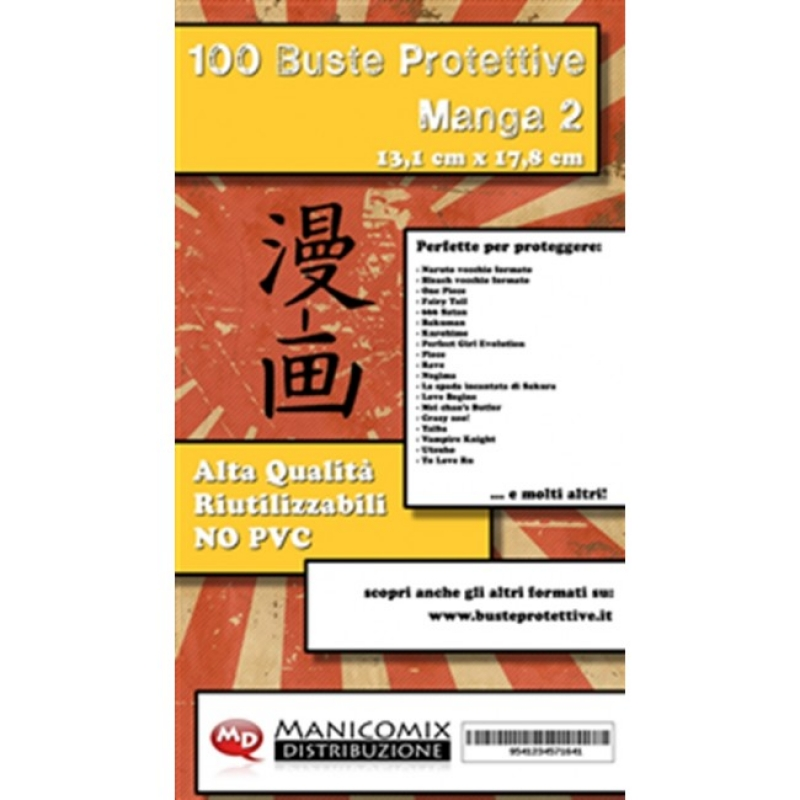 100 BUSTE PROTETTIVE MANGA 2 (13,1 X 17,8 Cm)