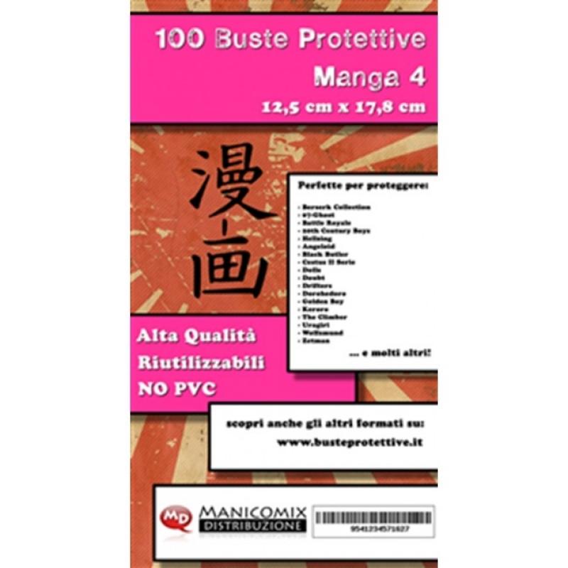 100 BUSTE PROTETTIVE MANGA 4 (12,5 X 17,8 Cm)