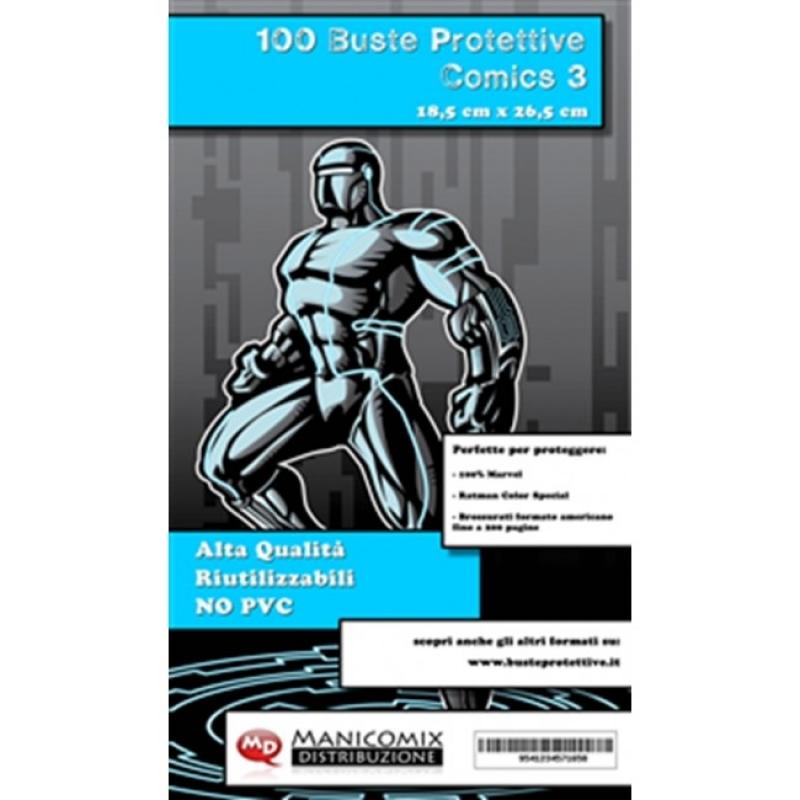100 BUSTE PROTETTIVE COMICS 3