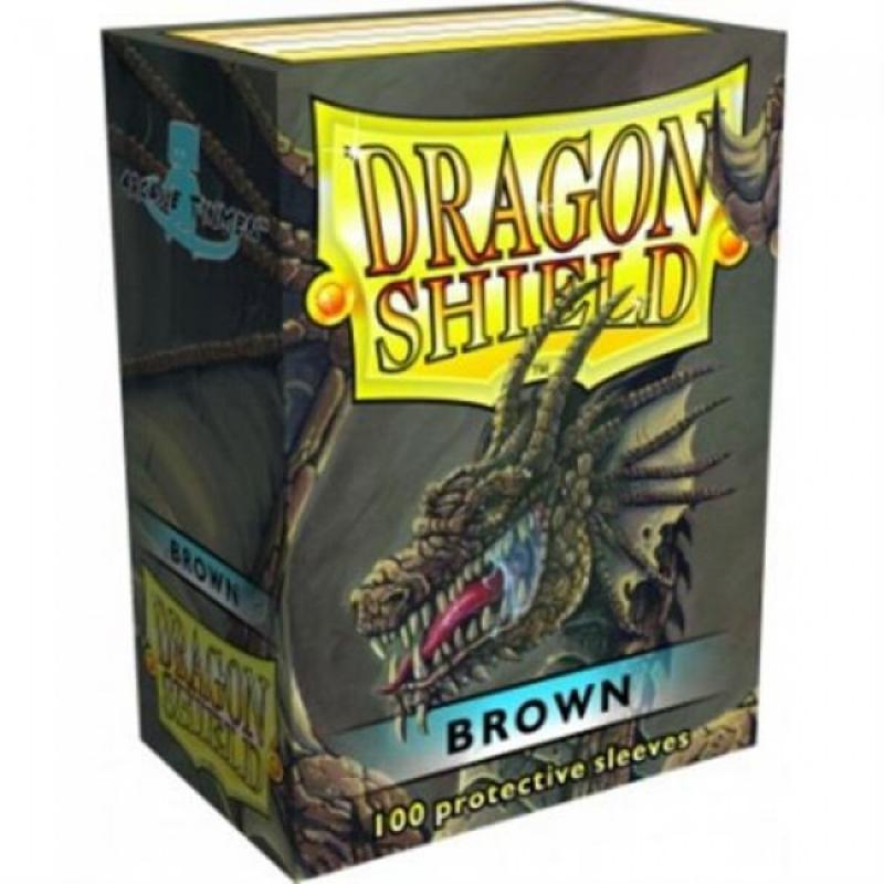 100 BUSTINE DRAGON SHIELD - BROWN CLASSIC