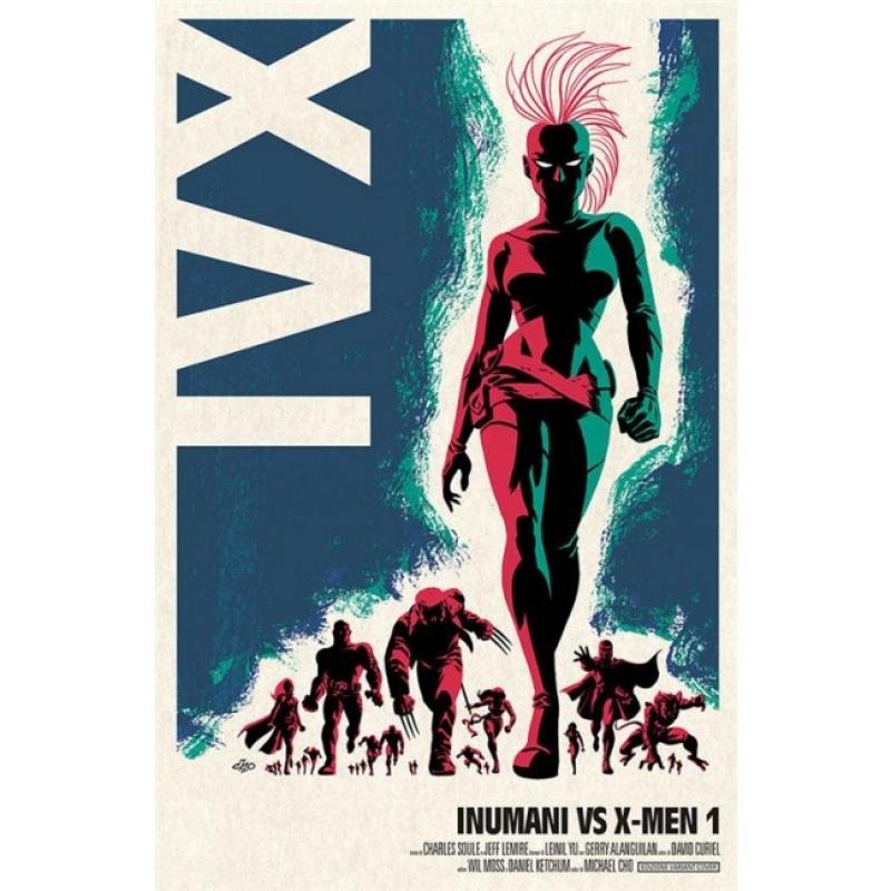 MARVEL MINISERIE 185 - INUMANI VS X-MEN 1 (DI 3) VARIANT